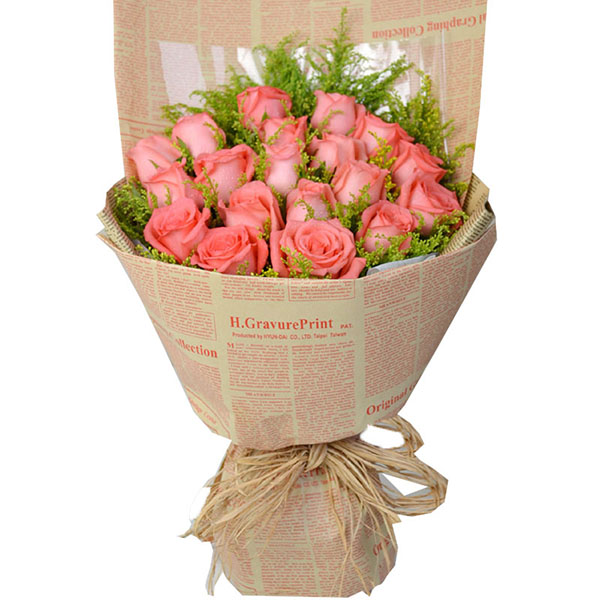 包装鲜花的步骤